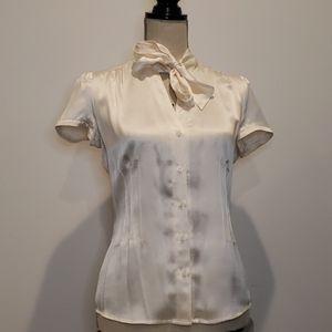Vintage PERIPHARY 100% satin shirt neck tie button